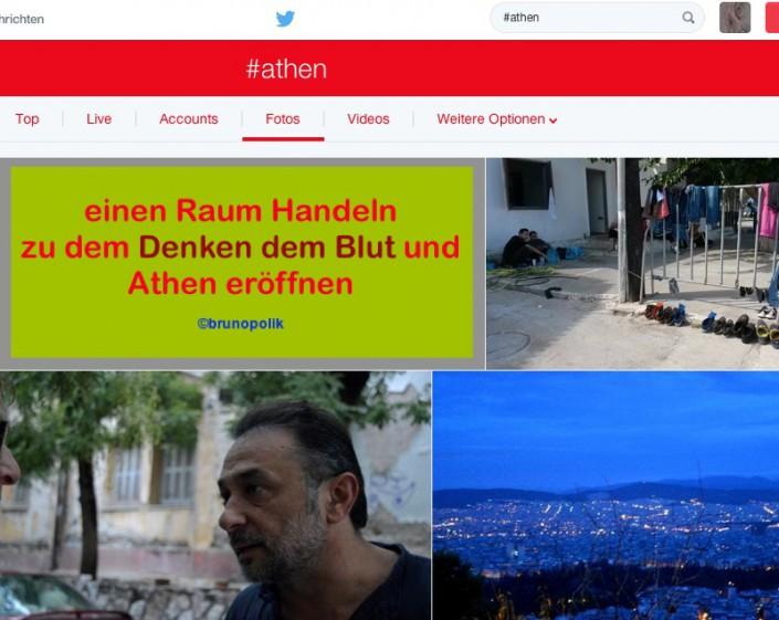 Screen-Shot von Twitter-Fotos mit dem Hashtag #athen