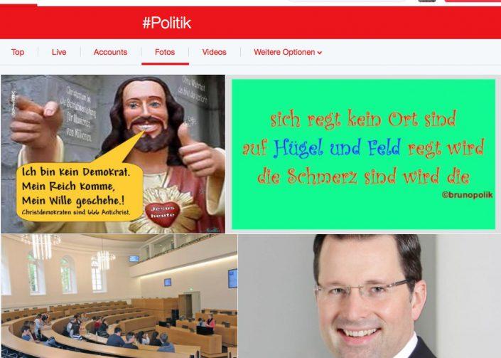 Screen-Shot Twitter-Foto Hashtag Politik vom 27.05.16