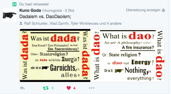 Screenshot Twitter-Tweet vom 16.06.16 Kuno Goda - Dadaism vs. DaoDaoism