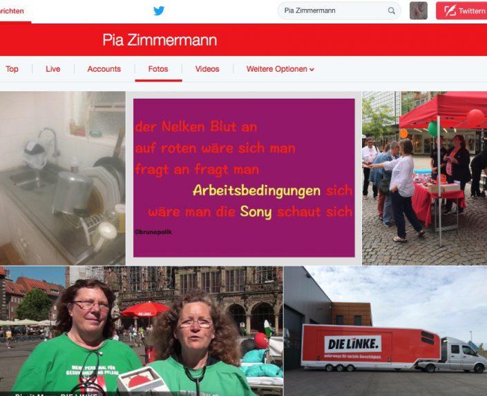 """Screenshot Twitter-Fotos - Pia Zimmermann mit Tanka-Strophe aus dem Poetry-Text der PolitikerInnen-Worte """"Den Beruf Spaß"""""""