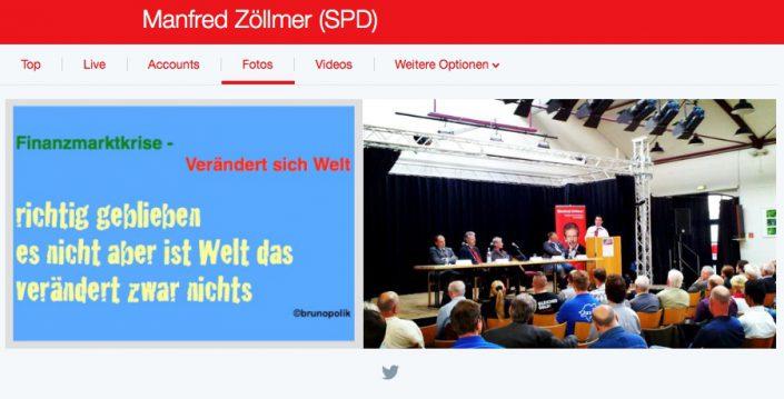 """Screenshot Twitter-Fotos mit Haiku-Strophe aus Poetry-Text der PolitikerInnen-Worte """"Finanzmnarktkrise ..."""" aus Rede des Bundestagsabgeordneten der SPD Manfred Zöllner"""
