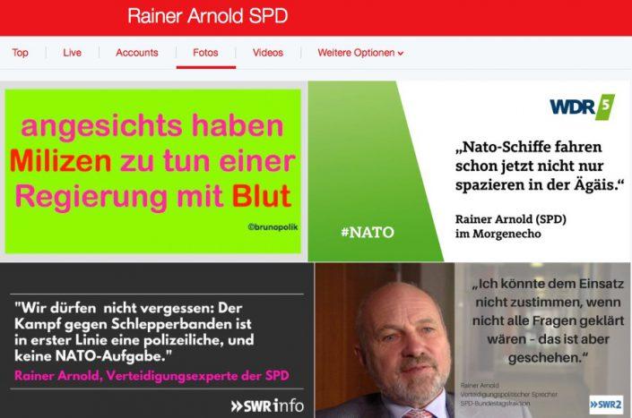 """Screenshot Twitter-Fotos Rainer Arnold SPD mit einer Haiku-Strophe aus dem Poetry-Text der PolitikerInnen-Worte """"Zwar Libyen"""