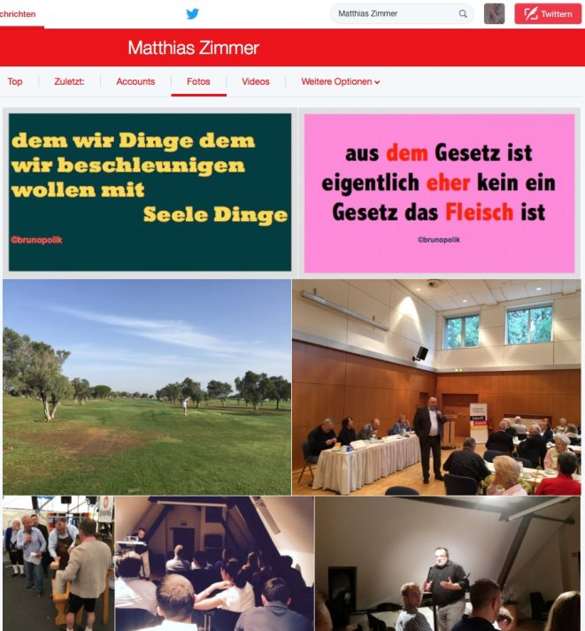 Screenshot aus den Twitter-Fotos : Matthias Zimmer - CDU-Bundestagsabgeordneter