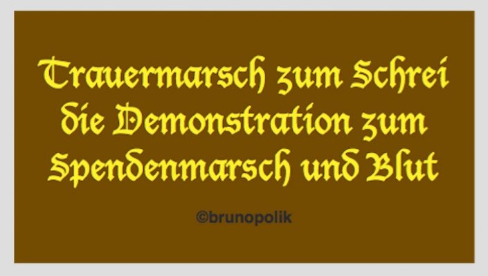 """Screenshot einer Strophe aus dem Poetry-Text """"Gegen sie demonstrieren"""" der Aktion GEGEN-POETRY"""