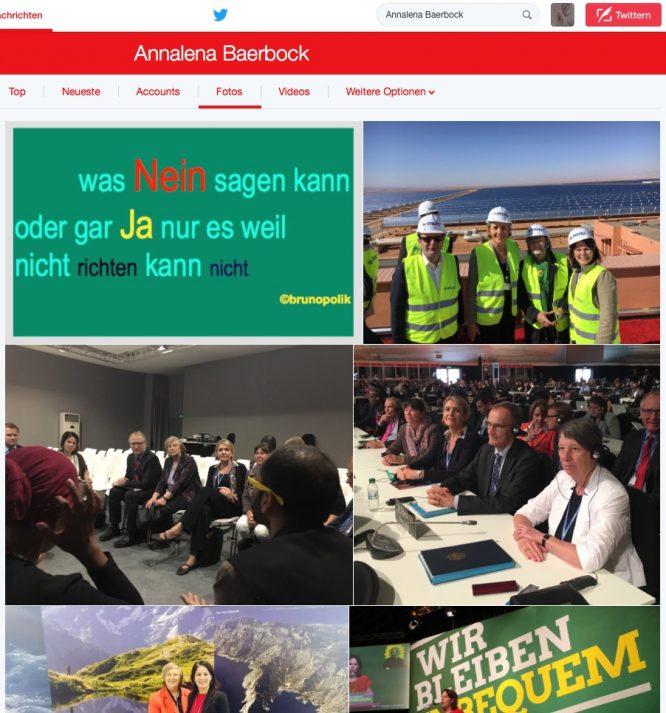 Screenshot Twitter-Fotos Annalena Bierbock - Grüne - Wir bleiben unbequem -